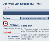 Preview image for LOM object Vorlagen für die Verwendung im Wiki von educanet2