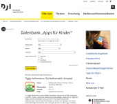 "Preview image for LOM object Datenbank ""Apps für Kinder"""