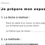 Preview image for LOM object Préparer un exposé : comment s'y prendre?