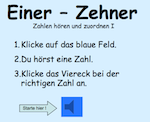 Preview image for LOM object Einer-Zehner auditive, visuelle Zuordnung