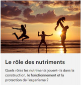 Preview image for LOM object Le rôle des nutriments
